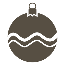 Grey bauble flat icon