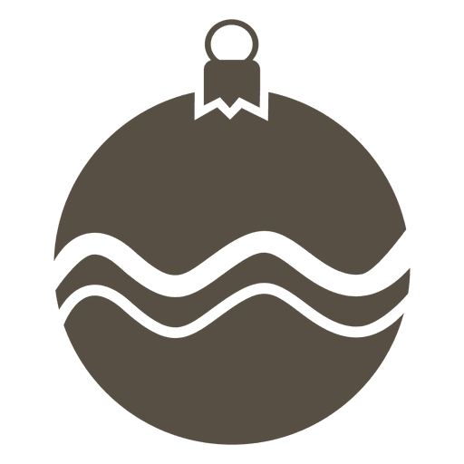 Grey bauble flat icon Transparent PNG