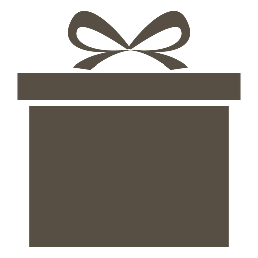 Grey giftbox icon Transparent PNG