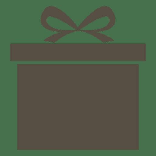 Icono de caja de regalo gris Transparent PNG