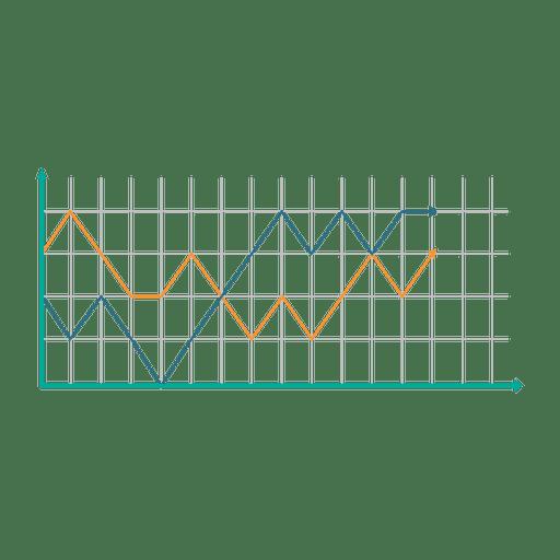 Growing line graph chart Transparent PNG