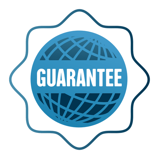 Guarantee globe sale badge png