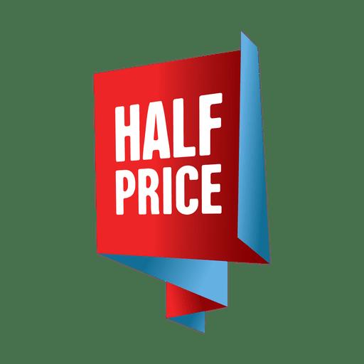 Etiqueta de venta a mitad de precio Transparent PNG