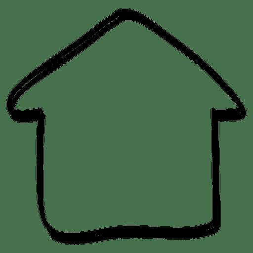 Casa de flecha desenhada à mão