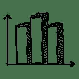 Mano gráfico de barras dibujado