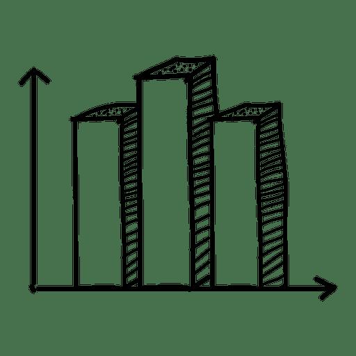 Gráfico de barras dibujado a mano