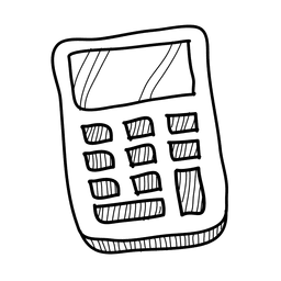 Icono de calculadora dibujada a mano