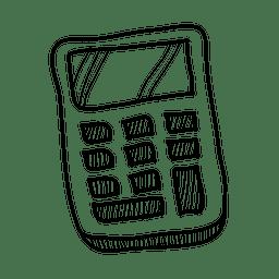 Mão, desenhado, calculadora, ícone