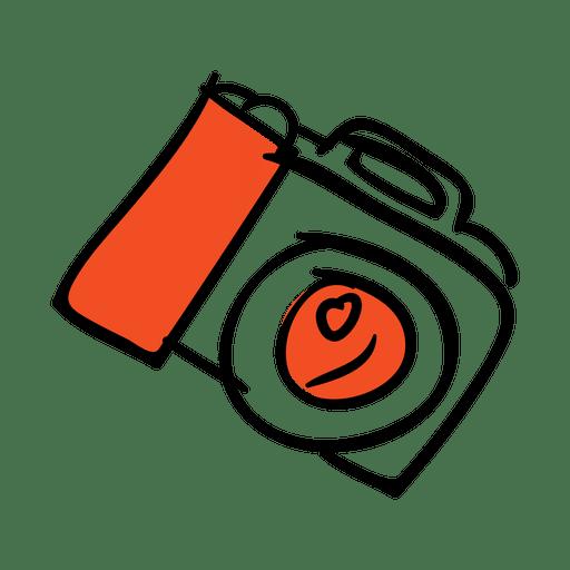 Icono de cámara dibujado a mano
