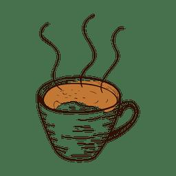 copo de café desenhada mão