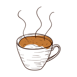 Hand drawn coffee cup