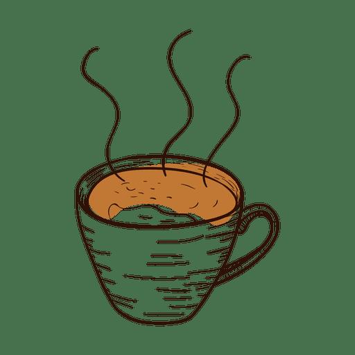 Taza de caf? dibujada a mano