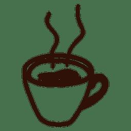 Dibujado a mano icono de la taza de café
