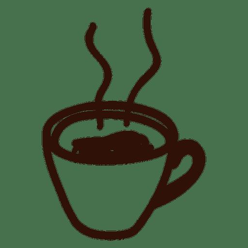 Dibujado a mano icono de la taza de café Transparent PNG