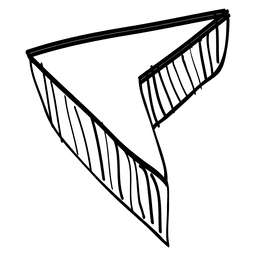 Mão desenhada cursor seta