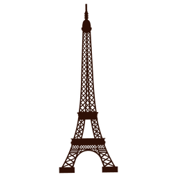Hand drawn eiffel tower