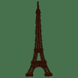 Mano dibujada torre eiffel