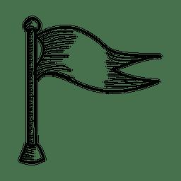 Icono de bandera dibujada a mano