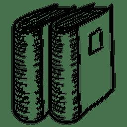 Ícone de pasta desenhada de mão