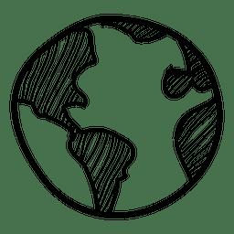 Hand gezeichnete Kugelikone