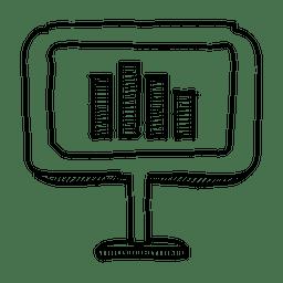 Exibição gráfico mão desenhada