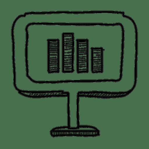 Hand drawn graph display Transparent PNG
