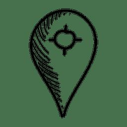 Selector de ubicación dibujado a mano