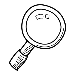 Hand drawn magnifying glass