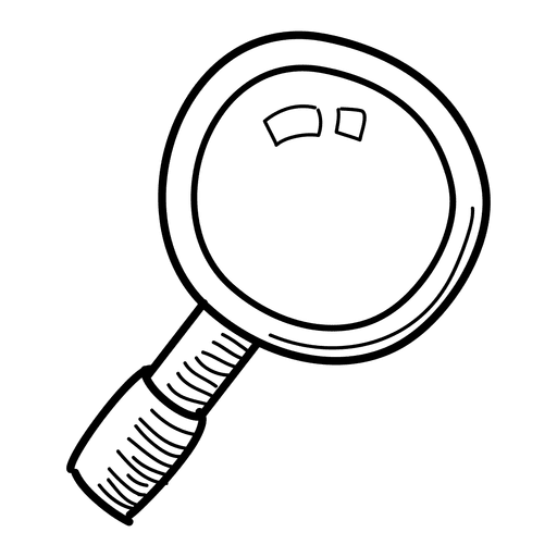 Hand drawn magnifying glass png