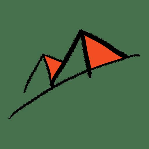 Pirámide dibujada a mano Transparent PNG