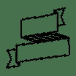 Hand drawn ribbon seal