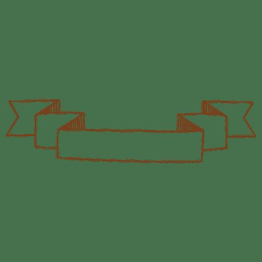 Hand drawn ribbon banner