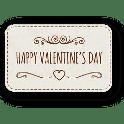 Hand gezeichneter Valentinstagaufkleber