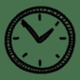Handgezeichnete Wanduhr