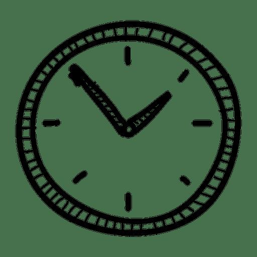 Reloj de pared dibujado a mano Transparent PNG