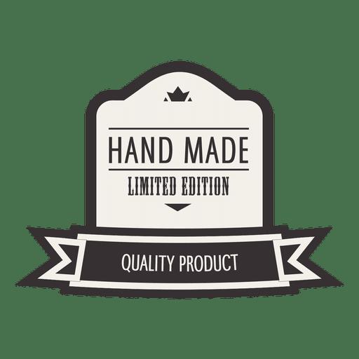 Handmade limited editation retro badge Transparent PNG
