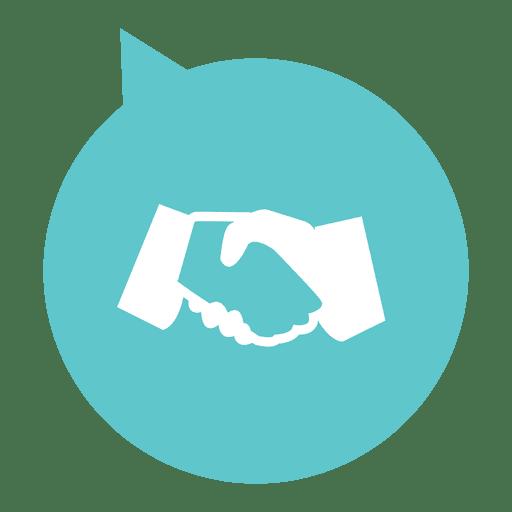 Handshake circle flat icon Transparent PNG
