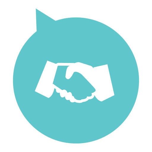 Icono plano de apretón de manos círculo Transparent PNG