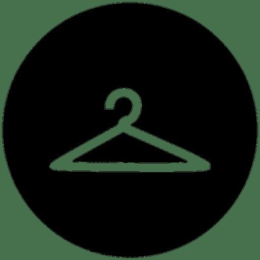 Ícone de serviço redondo de cabide Transparent PNG