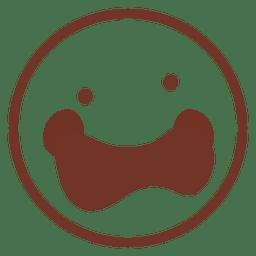 Happy emoticon flat face