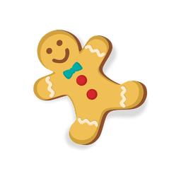 Happy gingerbread man cookie