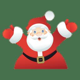 Glückliche Weihnachtsmann-Karikatur