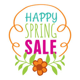 Happy spring offer label