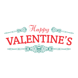 Happy valentines badge