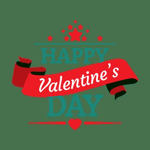 Feliz dia de san valentin emblema Transparent PNG