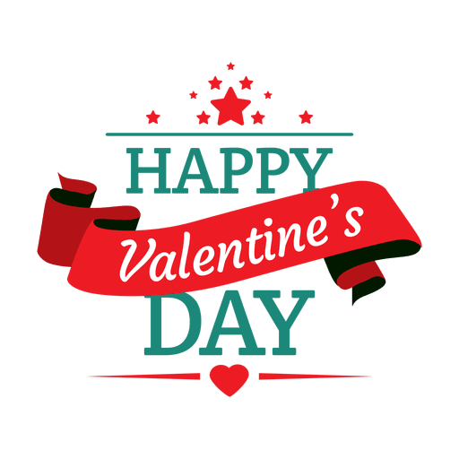 Happy Valentines Day Emblem Transparent Png Svg Vector