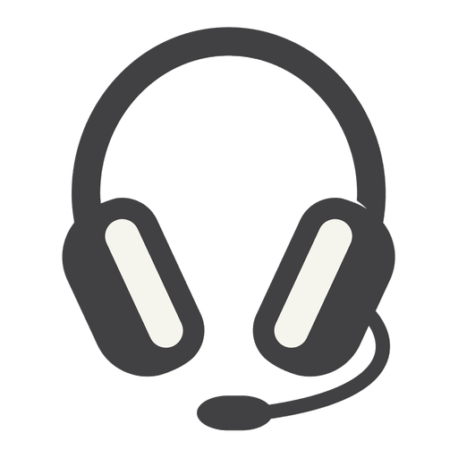 Ícone de fone de ouvido plano com traço grosso