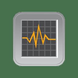 Ícone de monitor de batida de coração