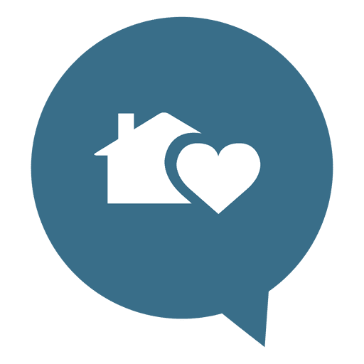 heart house real estate icon transparent png amp svg vector