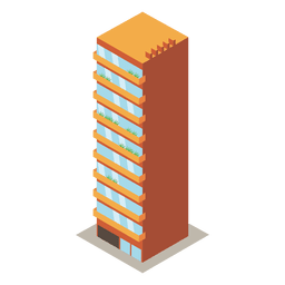 High rise tower building
